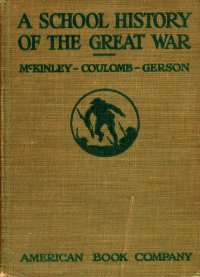 A School History of the Great War Book Cover